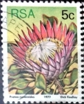 Stamps South Africa -  Intercambio 0,20 usd 5 cent. 1977