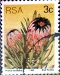 Stamps South Africa -  Intercambio 0,20 usd 3 cent. 1977
