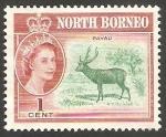 Sellos de Asia - Malasia -  Norte Borneo - 315 - Elizabeth II, y un ciervo