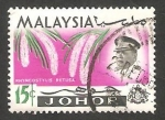 Sellos de Asia - Malasia -  Johor - 148 - Sultán Ismaïl y flores