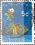 Stamps South Africa -  Intercambio 0,20 usd 5 cent. 1961