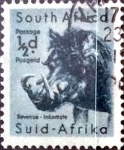 Stamps : Africa : South_Africa :  Intercambio 0,20 usd 1/2 p. 1954