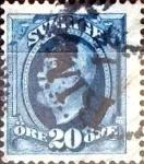 Sellos de Europa - Suecia -  Intercambio 0,30 usd 20 o. 1891