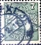 Stamps : Europe : Sweden :  Intercambio 0,20 usd 7 o. 1918