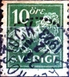 Sellos de Europa - Suecia -  Intercambio 0,30 usd 10 o. 1921