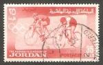 Stamps : Asia : Jordan :   420 - Olimpiadas de Tokyo, ciclismo