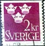 Stamps : Europe : Sweden :  Intercambio 0,20 usd 2 k. 1952