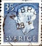 Stamps : Europe : Sweden :  Intercambio 0,20 usd 35 o. 1962