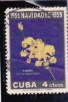 Sellos de America - Cuba -  FLORES- ORQUÍDEA -Navidad-59