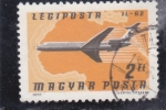 Stamps Hungary -  AVIÓN IL-62