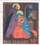 Stamps New Zealand -  NAVIDAD-1985