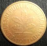 monedas de Europa - Alemania -  1971 (Anverso)