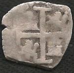 monedas de America - Perú -  1577 - Macuquina de 6 Reales (A)