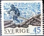 Stamps Sweden -  Intercambio 0,20 usd 45 o. 1970