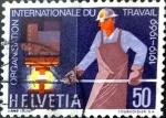Sellos del Mundo : Europa : Suiza :  Intercambio 0,45 usd 50 cent. 1969