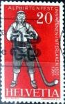 Sellos del Mundo : Europa : Suiza :  Intercambio ma4xs 0,50 usd 20 cent. 1955