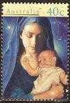 Sellos del Mundo : Oceania : Australia : Madonna de la Navidad y el Niño.