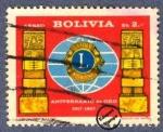Sellos de America - Bolivia -  50º Aniversario de Leones Internacional. 1917-1967
