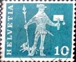 Stamps Switzerland -  Intercambio 0,20  usd 10 cent. 1960