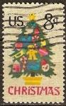Sellos de America - Estados Unidos -  Navidad 1973. Árbol de Navidad en encaje de aguja.