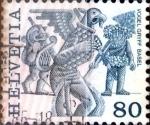 Sellos de Europa - Suiza -  Intercambio 0,75  usd 80 cent. 1977