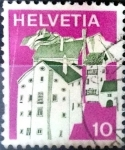 Stamps : Europe : Switzerland :  Intercambio 0,20 usd 10 cent. 1973