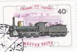 Sellos de Europa - Hungría -  LOCOMOTORA- 100 AÑOS GYÖR-SOPRONI