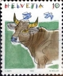 Stamps : Europe : Switzerland :  Intercambio 0,25 usd 10 cent. 1992