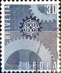 Sellos del Mundo : Europa : Suiza :  Intercambio ma4xs 0,25 usd 30 cent. 1967