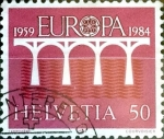 Stamps : Europe : Switzerland :  Intercambio ma4xs 0,50 usd  50 cent. 1984