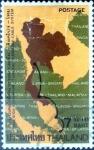 Sellos del Mundo : Asia : Tailandia : Intercambio 0,75 usd  7 b. 1973