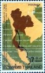 Sellos de Asia - Tailandia -  Intercambio 0,75 usd  7 b. 1973