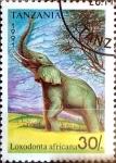 Stamps : Africa : Tanzania :  Intercambio agm2 1,25 usd  30 sh. 1991.