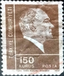 Stamps : Asia : Turkey :  Intercambio 0,20 usd  150 k. 1972