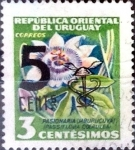 Sellos del Mundo : America : Uruguay : Intercambio 0,20 usd  5 sobre 3 cent. 1959
