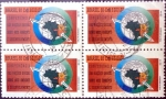Stamps : America : Brazil :  4 x 3000 cr. 1992