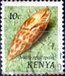 Sellos de Africa - Kenya -  Intercambio 0,20 usd  10 cent. 1971