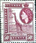 Stamps : Europe : United_Kingdom :  Intercambio 0,20 usd  50 cent. 1954