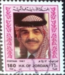 Stamps : Asia : Jordan :  Intercambio jxa 1,10 usd  160 fils 1987