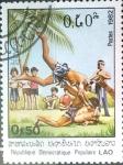 Stamps : Asia : Laos :  Intercambio cxrf 0,20 usd  50 cent. 1982