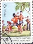 Stamps : Asia : Laos :  Intercambio cxrf 0,60 usd  4 k. 1982