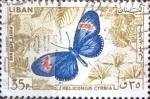 Stamps : Asia : Lebanon :  Intercambio cxrf 0,20 usd  35 p. 1965