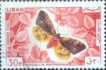 Stamps : Asia : Lebanon :  Intercambio cxrf 0,20 usd  30 p. 1965