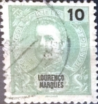 Stamps : Europe : Portugal :  Intercambio 0,20 usd  10 cent. 1898