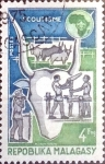Stamps : Africa : Madagascar :  Intercambio 0,20 usd  4 fr. 1974