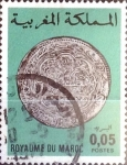Stamps : Africa : Morocco :  Intercambio 0,20 usd  5 cent. 1976
