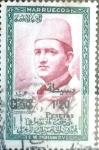 Stamps : Africa : Morocco :  1,20 sobre 1,50 p. 1957