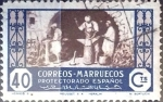Stamps Spain -  Intercambio 0,20 usd  40 cent. 1946