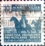 Stamps : Europe : Spain :  Intercambio 0,20 usd  10 cent. 1943