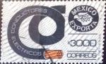 Sellos de America - México -  Intercambio 1,75 usd 3000 p. 1988